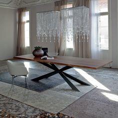 Dining Tables Cattelan Italia Spyder Wood Table