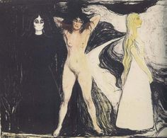 Woman in three stages by Edvard Munch