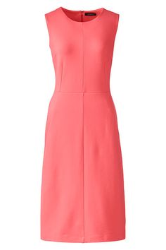 A super flattering ponté  dress you love in one of our favorite coral hues of spring. And pockets – always.