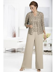 Diana 3-piece Pant Set   Sonsi for mother of the bride or mother of the groom