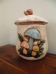 #Vintage #Retro #Mushroom Ceramic Kitchen #Canister #CookieJar Decor  #vtg #kitsch
