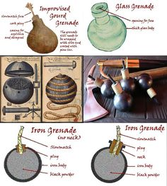 A Woodsrunner's Diary: Grenades. Survival Life Hacks, Survival Prepping, Emergency Preparedness, Survival Skills, Survival Gear, Tactical Survival, Tactical Gear, How To Make Fireworks, Homemade Weapons