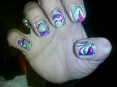 Marbled nail design by me.