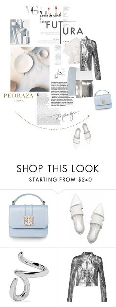 """""""Neutral toned looks with PEDRAZA"""" by lacas ❤ liked on Polyvore featuring McQ by Alexander McQueen, Jennifer Fisher, Roberto Cavalli, PedrazaLondon and Pedraza"""