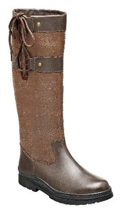 Harry Hall Yale Boot - Contrast colour country boots in grained leather with elastic gusset, lace fastneing and rubber sole.