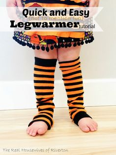 The REAL Housewives of Riverton: Legwarmer Tutorial - quick, easy, and FUN to make!