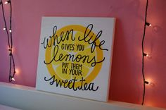 When Life Gives You Lemons Canvas by thebrokesororitygirl on Etsy, $30.00