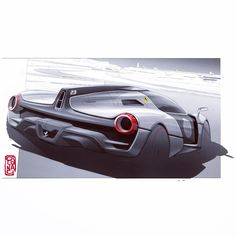 """604 curtidas, 8 comentários - Daniele Calonaci (@danielecalonaci) no Instagram: """"Portfolio: page 22 #portfolio #carsketch #carsketching #italiandesign #sensual #shapes #ferrari…"""""""