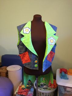 Vest/Cut-Away Jacket for Clown costume $350.