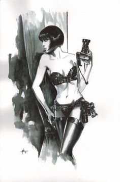 Valentina (after Guido Crepax) by Gabriel Dell'Otto