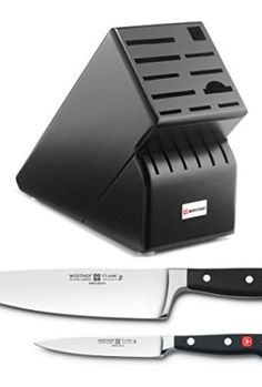 Wusthof-Blackwood-17-Slot-Knife-Block-with-Classic-High-Carbon-Stainless-Steel-8-Inch-Cooks-Knife-and-Classic-High-Carbon-45-Inch-Stainless-Steel-Utility-Knife-0