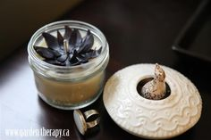 black flower candle