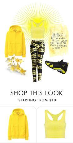 """Yellow!"" by teez-biz-nez ❤ liked on Polyvore featuring moda, Uniqlo y Retrò"