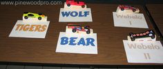 Pinewood Derby Car Showcase