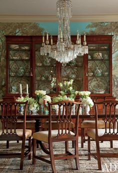 A Dozen Times Arch Digest Has Totally Rocked Chinoiserie. Vintage  ChandelierEmpire ChandelierTraditional Dining RoomsDining FurnitureWooden  ...