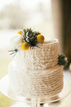 Image result for mustard flowers wedding cake