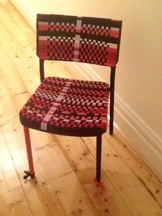 Plastic chair and elastic Made by me
