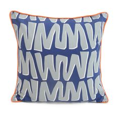 Zig Zag Cushion by Sunny Todd for Heal's Contemporary Cushions, Modern Cushions, Grand Designs, Old World Charm, Quality Furniture, Soft Furnishings, Zig Zag, Shades Of Blue, Healing