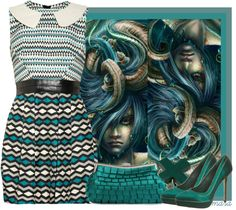 """""""Little girl with the snake hair"""" by marastyle ❤ liked on Polyvore"""