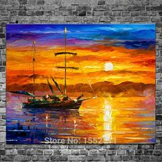 Cheap picture of birthday gifts, Buy Quality picture of silver element directly from China picture of barbie doll Suppliers: Household adornment ship painting abstract oil painting canvas wall picture modern household to decorate the living room 9 Boat Painting, Oil Painting Abstract, Painting Canvas, Acrylic Canvas, Popular Paintings, Colorful Paintings, Pastel Sunset, Ship Paintings, Leonid Afremov Paintings