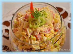 Domowa kuchnia Aniki: Sałatka z selerem konserwowym i porem Mayonnaise, Guacamole, Pasta Salad, Cabbage, Snacks, Dinner, Baking, Vegetables, Ethnic Recipes