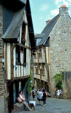 Picture taken by someone else, but truly a beautiful village ~ @EpicureanPiranha. Dinan, France: A Brittany Must-See
