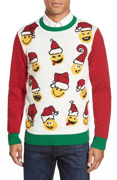 ugly christmas emoji sweater - Ugly Christmas Sweaters Cheap
