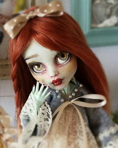 OOAK repainted 17 inch Monster High doll by Miasdaydream on Etsy