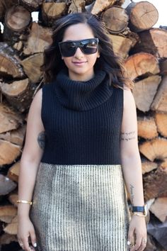 Fall Fashion with Fall sweaters! I love this black and gold number-- The Loveliest Lily