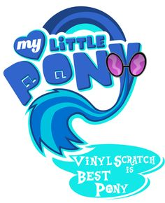 MLP Vinyl Scratch | Fanart - MLP. My Little Pony Logo - Vinyl Scratch by jamescorck on ...