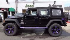black jeep with purple accents - Google Search
