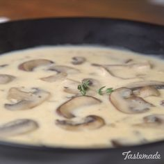 After tasting this homemade mushroom soup, you'll never want the canned stuff again. Who could say no to wild rice & mushroom soup! Homemade Mushroom Soup, Mushroom Soup Recipes, Easy Soup Recipes, Vegetarian Recipes, Cooking Recipes, Mushroom Meals, Recipes For Mushrooms, Healthy Mushroom Soup, Mushroom Cream Soup