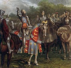 Henry V addresses his troops on St. Crispin's day before the battle of Agincourt