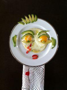 Egg Faces by me :-) #charsbreakfast#blueshineart#eat