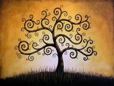 Arbre de vie... 8 x 10 brillant giclée Print--de ma peinture originale de Amy Giacomelli