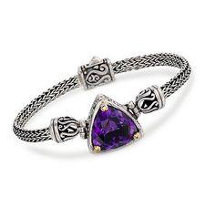 Balinese 12.00 Carat Amethyst Bracelet in Two-Tone | Buy this for 50% OFF! #bracelet #jewelry #sale #amethyst