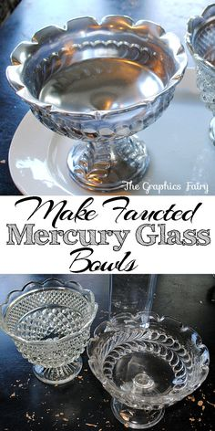 Make Your Own Mercury Glass with Thrift Store Faceted Bowls!