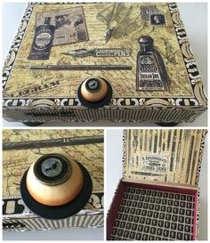 Altered cigar box by Rita Chiappetta