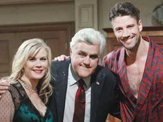 Salem faves Alison Sweeney (Sami) and James Scott (EJ) will appear with Jay Lenotonight on THE TONIGHT SHOW WITH JAY LENO — which seems to be a soap operaof its own of late. Tune in to @Liz Douglas tonight! Lets see the #Days fans light up #TonightShow !! @IamJamesScott & I working with Jay #couldntkeepastraightface , tweeted the actress.