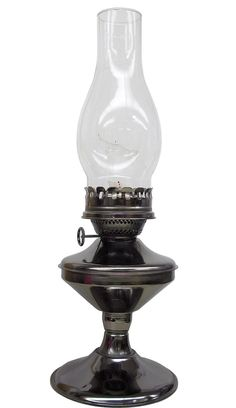 Features:  -Burns lamp oil or kerosene.  -Elegant decor accessory.  -For remote cabins or power blackouts.  -Safer and more effective than candles.  -Product Type: Standard; Bedside.  -Fixture Finish: