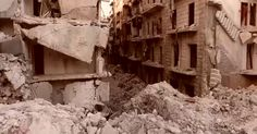 In Aleppo, a drone video reveals a destruction so complete that it obliterates even a sense of time.