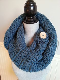 Items similar to SALE INFINITY SCARF with big wood button, Écharpe infinie, Crochet snood scarf, Foulard tube crochet on Etsy Red And Grey, Gray, Crochet Snood, Cardboard Jewelry Boxes, Snood Scarf, Handmade Gifts For Her, Tube Scarf, Handmade Scarves, Circle Scarf