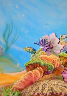 mar 27 mural de arrecife marino .