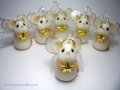 Tiny Angel Star Mouse for your Christmas tree :)