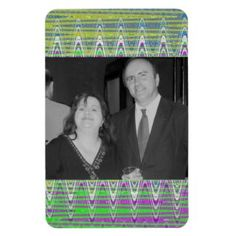 Add you photo Colorful photo magnet #zazzle #gifts