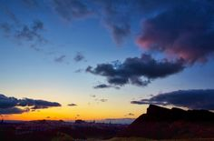 Holyrood Park after sunset