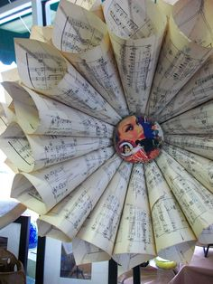 My version of the sheet music wreath.