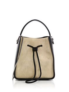 3.1 Phillip Lim - Soleil Small Two-Tone Suede & Leather Hobo Bag