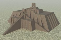 Reconstruction of the Ziggurat of Ur, Mesapotamia