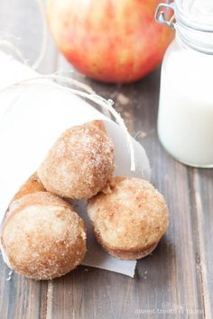 These little mini apple donut muffins were a huge hit at our house last weekend. Anything resembling a donut, or a donut hole, or covered in cinnamon and sugar is a winner in my boys' book.  T...